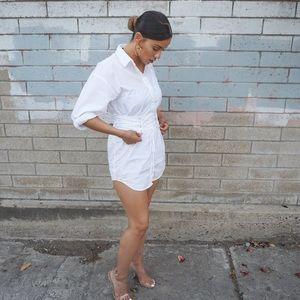 White Forever 21 Corset Dress